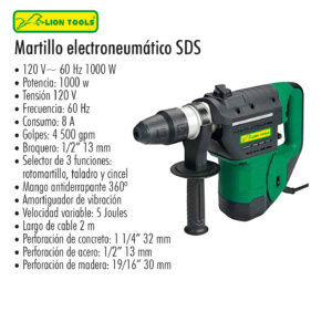 Martillo electroneumatico SDS Lion Tools